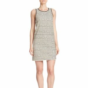 4.Collective  Striped Lace Slim Shift Dress
