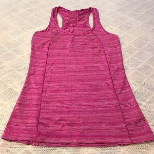 Pink & White Striped Workout Tank Top