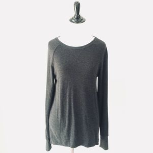 Brandy Melville High Low Tee, Charcoal