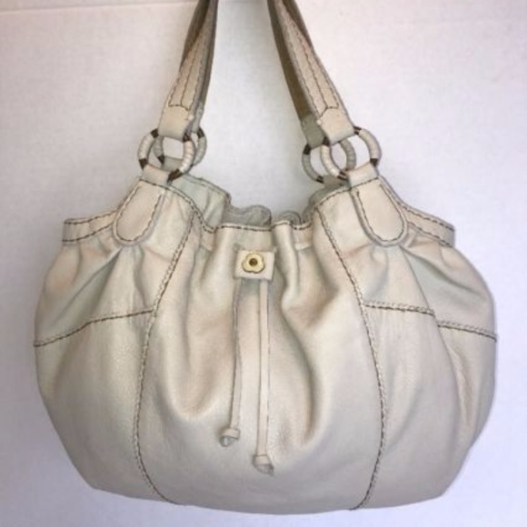 f92e882a94dce1 Lucky Brand Handbags - LUCKY BRAND Off White Leather Slouchy HOBO Tote
