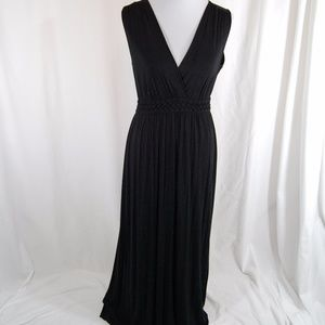 Spense Black Stretchy Maxi Dress
