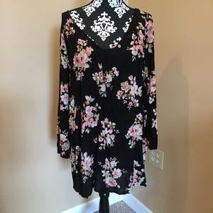 Rue 21 black floral loose dress size large
