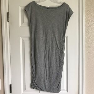 Grey Fitted Gap Maternity Dress