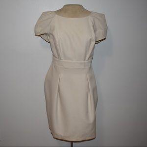 Ivory honeycomb textured dress
