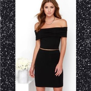 NWT Black Off-The-ShoulderTwo-Piece Dress