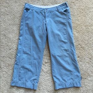 Darling PrAna low rise blue crop pants. Size L.