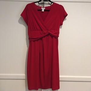 Red Motherhood Maternity dress