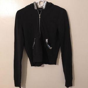 Express Hoodie Sweatshirt Women's M Black NWOT
