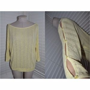 Anthropologie ELLA MOSS Pointelle Knit Sweater Top