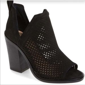 Vince Camuto Kensa Peep Toe Perforated Booties
