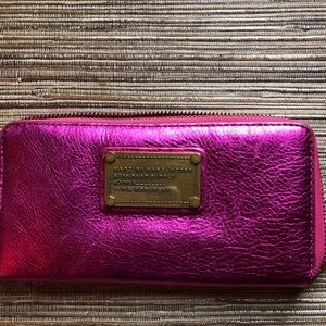 Marc by Marc Jacobs Metallic Pink Wallet