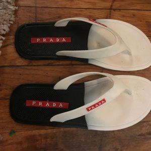 PRADA classic stylish flip flops size 9