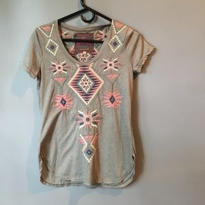 Embroidered tee from Anthropologie