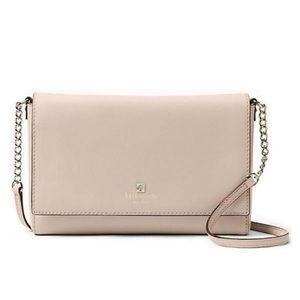 ✨NWT✨ Kate Spade Beige Leather Crossbody Bag