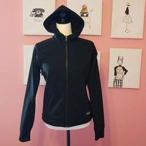 PATAGONIA women's black zip up jacket size S.