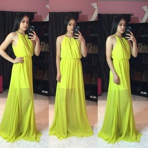 New lime green Maxi dress