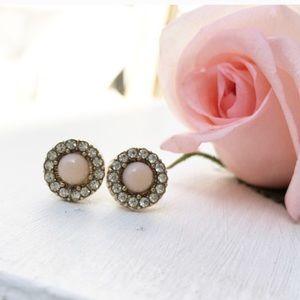 Jewelry - Delicate Blush Stud Earrings.