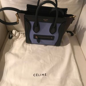 Celine luggage nano. Rolled top handles