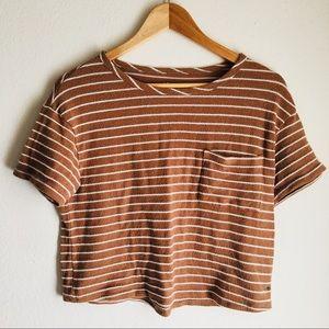 AEO Striped Crop Top