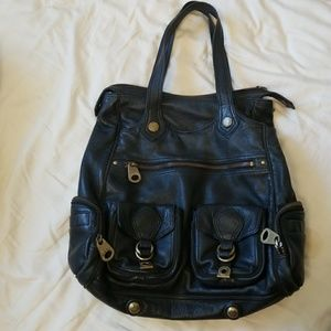 Marc by Marc Jacobs leather handbag with pockets