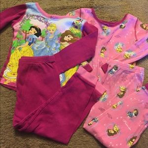Princess Pajamas - long sleeve and long pants