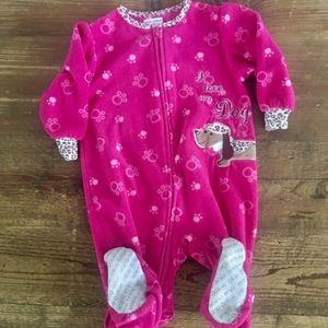 Okie Dokie dachshund fuzzy pajamas