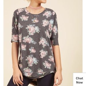 Modcloth Best of Botanical Floral Top