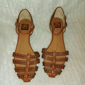 Dolce Vita Womens Brown Leather Sandals size 8.5