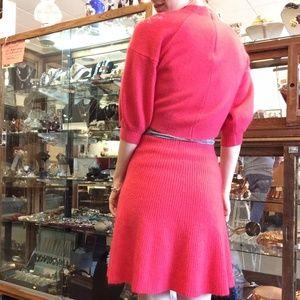 Vintage Skirts - 💫HOT PINK SOFT WOOL SKIRT BLOUSE SET SOVA