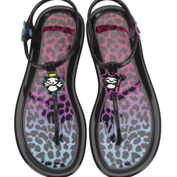 216f03b7ca2 Jimmy Choo Maui Rob Pruit Jelly Black Sandals