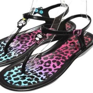 0904774c3a2 Jimmy Choo Shoes - Jimmy Choo Maui Rob Pruit Jelly Black Sandals