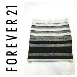 Forever 21 Ombre Metallic Mini Skirt