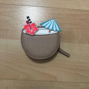 Kate Spade breath of fresh air coconut coin purse