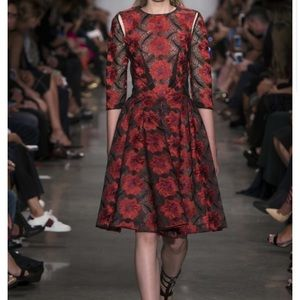 Zac Posen floral-embroidered dress