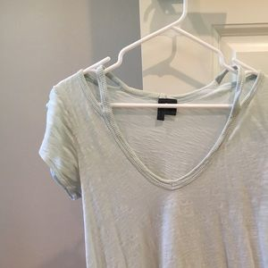 Anthropologie tShirt with cut outs at shoulder