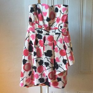 Alice by Temperley floral print strapless dress 6