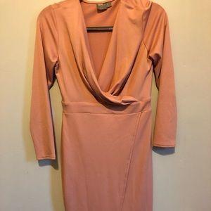 ASOS Front Spilt Drape Midi Dress
