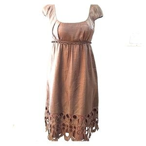 Adrianna Papell Bronze Babydoll Art Deco Detail