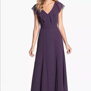 Jenny Yoo ruffle purple 18 formal dress bridesmaid