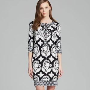 Diane Von Furstenberg Black and White Mini Dress