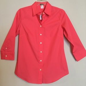 J. Crew Button Up Stretch 3 Quarter Long Sleeves