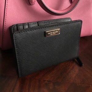 Kate Spade Black Leather Cara Wallet