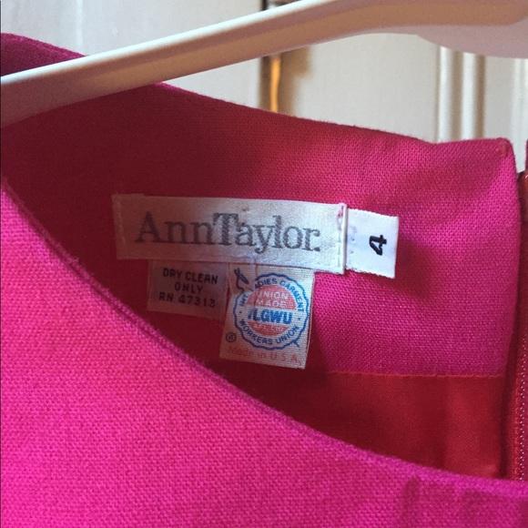 Ann Taylor Dresses - Vintage Ann Taylor pink and red linen dress 4