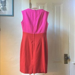 Ann Taylor Dresses - Vintage Ann Taylor pink and red linen dress 4