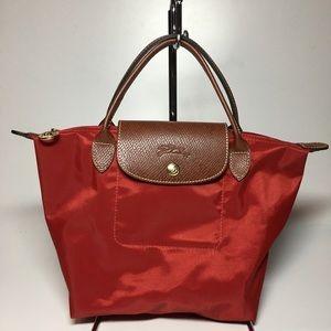 Longchamp Small Le Pliage Red Tote