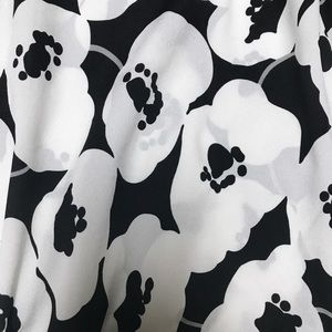 New York & Company Tops - New York &Co • Black White Floral Blouse