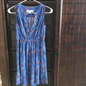 LOFT blue cotton dress