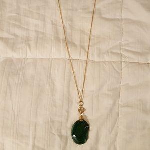 Jewelry - Long green gemstone necklace