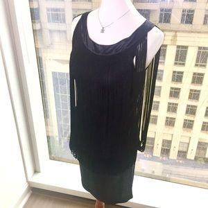 Flounce (Nordstrom) Fringe Black Dress • Like new