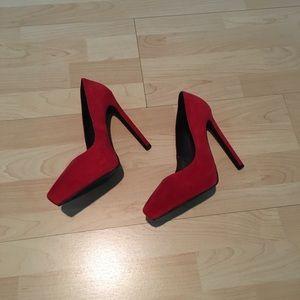 Red Jeffrey Campbell Heels
